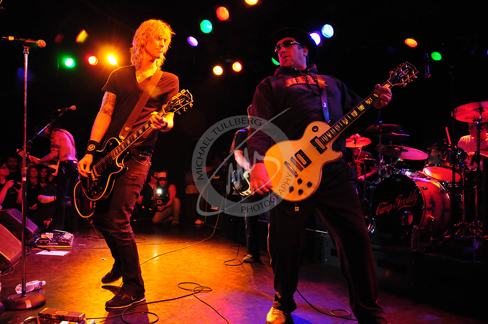 Bassist Duff McKagan and guitarist Steve Jones perform at the Roxy Theatre in West Hollywood