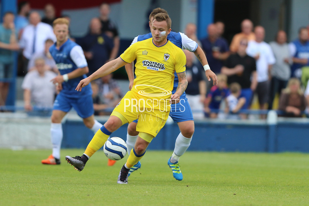 AFC Wimbledon midfielder Dean Parrett (18) during the Pre-Season Friendly match between Margate and AFC Wimbledon at Hartsdown Park, Margate, United Kingdom on 16 July 2016. Photo by Stuart Butcher.