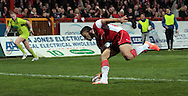 Kevin Larroyer of Hull Kingston Rovers scores a try during the First Utility Super League match at Craven Park, Hull<br /> Picture by Richard Gould/Focus Images Ltd +44 7855 403186<br /> 17/04/2014