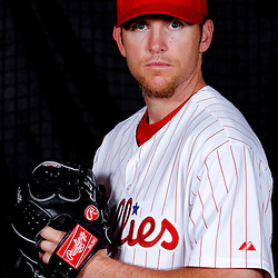 February 22, 2011; Clearwater, FL, USA; Philadelphia Phillies relief pitcher Brad Lidge (54) poses during photo day at Bright House Networks Field. Mandatory Credit: Derick E. Hingle