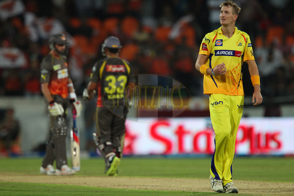 Chris Morris walks back in the 20th over during match 54 of the Pepsi Indian Premier League between The Sunrisers Hyderabad and Chennai Superkings held at the Rajiv Gandhi International  Stadium, Hyderabad  on the 8th May 2013..Photo by Ron Gaunt-IPL-SPORTZPICS ..Use of this image is subject to the terms and conditions as outlined by the BCCI. These terms can be found by following this link:..http://www.sportzpics.co.za/image/I0000SoRagM2cIEc