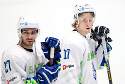 Disappointment of Bostjan Golicic of Slovenia and Jan Drozg of Slovenia during ice hockey match between Belarus and Slovenia at IIHF World Championship DIV. I Group A Kazakhstan 2019, on May 2, 2019 in Barys Arena, Nur-Sultan, Kazakhstan. Photo by Matic Klansek Velej / Sportida