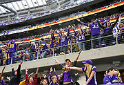 Fans cheer on the Vikings defense during a game against the Green Bay Packers on Sunday at U.S. Bank Stadium in Minneapolis. (Matt Gade / Republic)