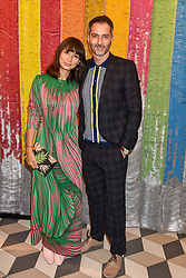 Jasmine Hemsley and Nick Hopper at a cocktail supper hosted by BOTTLETOP co-founders Cameron Saul & Oliver Wayman, along with Arizona Muse, Richard Curtis & Livia Firth to launch the #TOGETHERBAND campaign at The Quadrant Arcade on April 24, 2019 in London, England.<br /> <br /> ***For fees please contact us prior to publication***