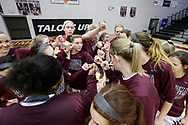 November 30, 2018: The Dallas Christian College Crusaders play against the Oklahoma Christian University Lady Eagles in the Eagles Nest on the campus of Oklahoma Christian University.