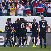 Team United States celebrates a CLINT DEMPSEY (8) goal in the first half of a Copa America Centenario Group A match between the United States and Paraguay Saturday, June. 11, 2016 at Lincoln Financial Field in Philadelphia, PA.
