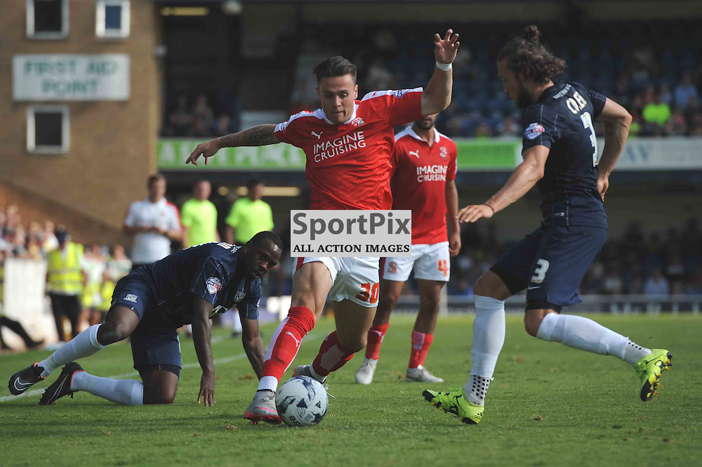 Swindons Miles Storey in action in their Sky Bet League 1 clash with Southend