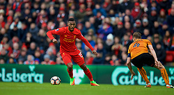 LIVERPOOL, ENGLAND - Saturday, January 28, 2017: Liverpool's Daniel Sturridge in action against Wolverhampton Wanderers during the FA Cup 4th Round match at Anfield. (Pic by David Rawcliffe/Propaganda)