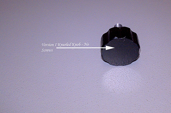 Please note which version of the Saddle and Knurled Knob you have.  See this image and the following image.