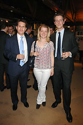 Left to right, JAMES NEILSON, MISS ROSE CHADWYCK-HEALEY and OLIVER CHADWYCK-HEALEY at a party for the Royal Marsden Hospital held at the Chelsea Gardener, Sydney Street, London on 6th May 2008.<br />
