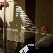 ****IMAGES FILED ON SPEC - CONTACT DAVID FURST X8303****<br /> DUBLIN, IRELAND - MAY 07, 2015: A man reads a paper at a election/referendum staff training venue in Dublin city centre, as voters prepare to take part, May 22nd, in a historic vote allowing the public to decide if same sex marriage can be allowed in the country. CREDIT: Paulo Nunes dos Santos for The New York Times
