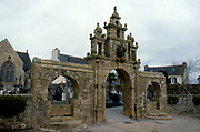 France, Brittany.  Argol, Church and Calvery.