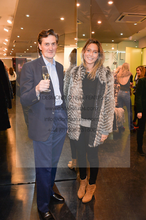 SIR PHILIP NAYLOR-LEYLAND and JEMIMA JONES at a preview of the Hockley Autumn -Winter 2013/2014 Collection at Hockley, 20 Conduit Street, London on 26th November 2013.