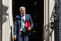London, UK. 16 July, 2019. Stephen Barclay MP, Secretary of State for Exiting the European Union, leaves 10 Downing Street following a Cabinet meeting.