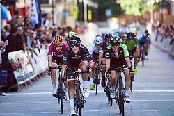 Lisa Brennauer (GER) wins the sprint for second ahead of Giorgia Bronzini (ITA) at Emakumeen Bira 2018 - Stage 1, a 108 km road race starting and finishing in Legazpi, Spain on May 19, 2018. Photo by Sean Robinson/Velofocus.com