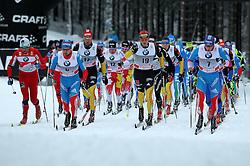 30.12.2011, DKB-Ski-ARENA, Oberhof, GER, Viessmann FIS Tour de Ski 2011, Pursuit/ Verfolgung Herren im Bild Axel Teichmann und Jens Filbrich (beide GER) im vorderen Teil des Starterfeldes . // during of Viessmann FIS Tour de Ski 2011, in Oberhof, GERMANY, 2011/12/30 .. EXPA Pictures © 2011, PhotoCredit: EXPA/ nph/ Hessland..***** ATTENTION - OUT OF GER, CRO *****