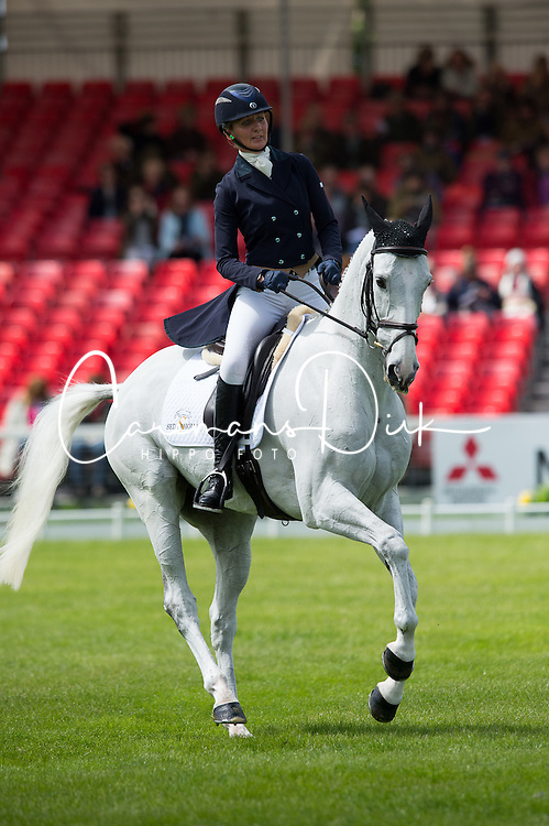 Tew Julie, (GBR), Lord Of The Owls<br /> Dressage <br /> Mitsubishi Motors Badminton Horse Trials - Badminton 2015<br /> &copy; Hippo Foto - Jon Stroud<br /> 07/05/15