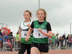 Roisin O&rsquo;Brien Islandeady and Katie Gibbons competing in the 800m at the Mayo Community Games.<br /> Pic Conor McKeown