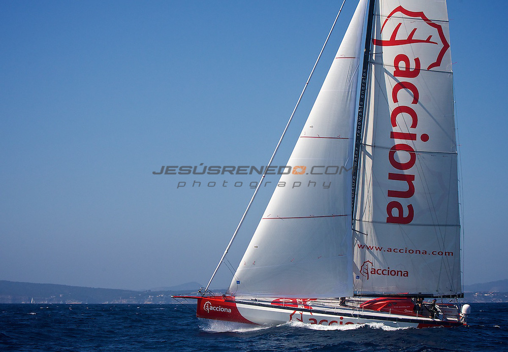 Imoca 60 Acciona 100% ecopowered training in Mallorca.Spain. Mach 18 th 2012 © jrenedo
