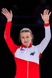 12-01-2019 NED: ISU European Short Track Championships 2019 day 2, Dordrecht<br /> Gold medal Natalia Maliszewska #6 POL on the 500 m