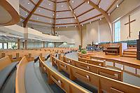 Interior Image of Queens Chapel UMC in Beltsville Maryland by Jeffrey Sauers of Commerial Photographics