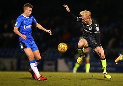 Ryan Broom of Bristol Rovers takes on Jake Hessenthaler of Gillingham - Mandatory by-line: Robbie Stephenson/JMP - 16/12/2017 - FOOTBALL - MEMS Priestfield Stadium - Gillingham, England - Gillingham v Bristol Rovers - Sky Bet League One