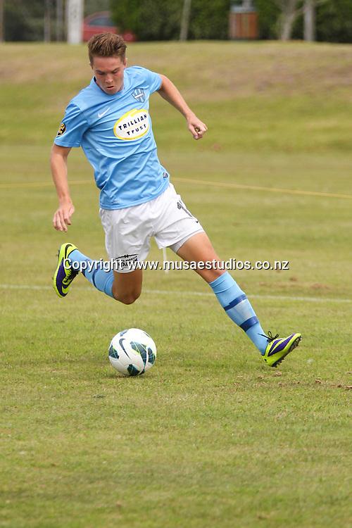 Wanderers SC's Finn Cochran. Round 11, WaiBOP United vs Wanderers SC, Links Avenue, Mount Maunganui, Saturday 1st February 2014. Photo: Mark McKeown