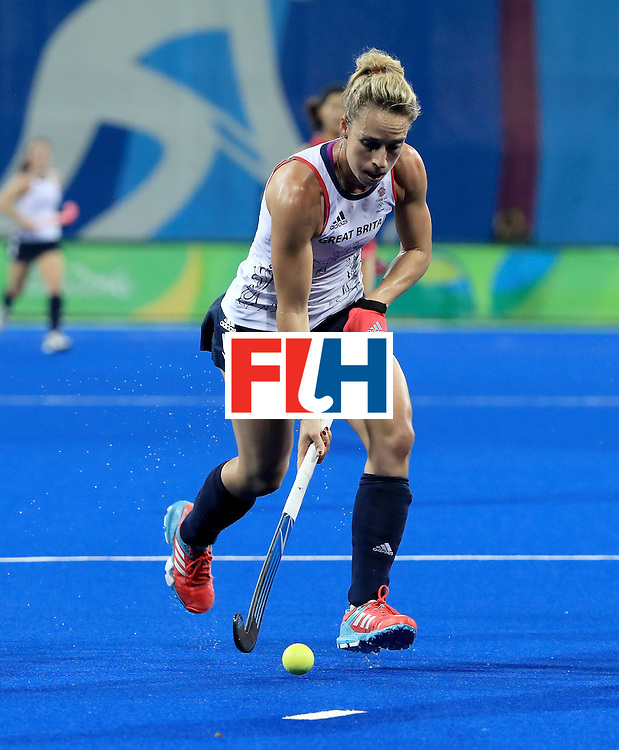 RIO DE JANEIRO, BRAZIL - AUGUST 11:  Susannah Townsend #9 of Great Britain controls the ball during a Women's Preliminary Pool B match at the Olympic Hockey Centre on August 11, 2016 in Rio de Janeiro, Brazil.  (Photo by Sam Greenwood/Getty Images)