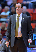 SAN DIEGO, CA - MARCH 16:  Head coach Gregg Marshall of the Wichita State Shockers looks on during a first round game of the Men's NCAA Basketball Tournament at Viejas Arena in San Diego, California. Marshall won 81-75.  (Photo by Sam Wasson)