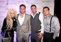 NEW YORK, NY - APRIL 13:  Victoria Gotti, Frank Gotti Agnello, John Gotti Agnello and Carmine Agnello Jr. attend Frank Gotti's 21st  birthday celebration at Greenhouse on April 13, 2011 in New York City.  (Photo by Dave Kotinsky/Getty Images)