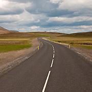 Highway leading out of Reykjavik, Iceland