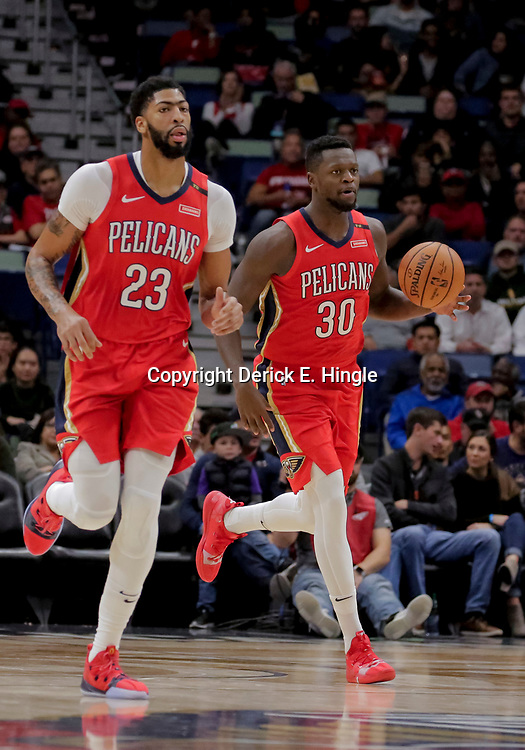 Nov 28, 2018; New Orleans, LA, USA; New Orleans Pelicans forward Julius Randle (30) and forward Anthony Davis (23) Washington Wizards during the second half at the Smoothie King Center. Mandatory Credit: Derick E. Hingle-USA TODAY Sports