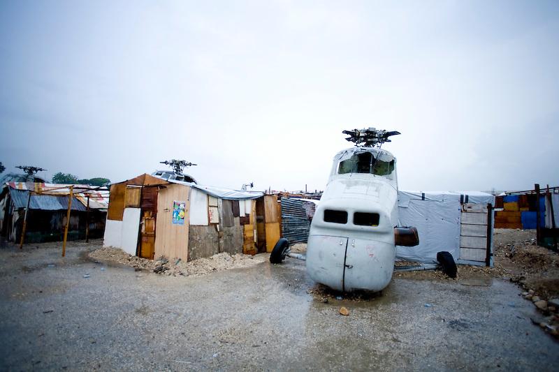 Temperary shelters on Delmas, Port Au Prince. Haiti. 3/19/2010 Photo by Ben Depp