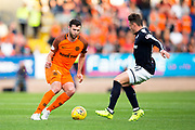 Dundee United defender Lewis Toshney (#6) takes on Dundee midfielder Scott Allan (#10) during the Betfred Scottish Cup match between Dundee and Dundee United at Dens Park, Dundee, Scotland on 9 August 2017. Photo by Craig Doyle.