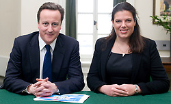 Leader of the Conservative Party David Cameron with Caroline Nokes.Member of Parliament for Romsey and Southampton North in his office in Norman Shaw South, January 18, 2010. Photo By Andrew Parsons / i-Images.