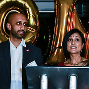 Jay Patel and Sina Patel attend Awareness gala hosted by the Health Committee with live music and poetry performances at City Hall at The Queen's Walk, London, UK. 18 March 2019.