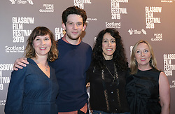 Glasgow Film Festival 2019<br /> <br /> The Scottish Premiere of Only You<br /> <br /> Pictured: producer, Josh O'Connor, Harry Wootliff and Claire Mundell<br /> <br /> (c) Aimee Todd | Edinburgh Elite media
