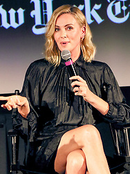 Charlize Theron is seen attending ScreenTimes: 'Tully' with Charlize Theron and Jason Reitman in New York City. NON-EXCLUSIVE May 2, 2018. 02 May 2018 Pictured: Charlize Theron. Photo credit: Nancy Rivera/Bauergriffin.com/MEGA TheMegaAgency.com +1 888 505 6342