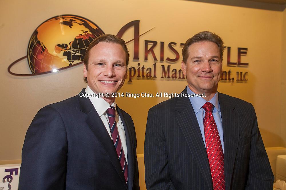 Geoffrey Stewart, left, and Sean Thorpe, portfolio managers of Aristotle Capital Management.  (Photo by Ringo Chiu/PHOTOFORMULA.com)