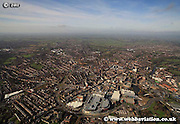 aerial photograph of Derby Derbyshire UK