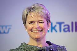 """© Licensed to London News Pictures. 27/09/2012. LONDON, UK. The TalkTalk Chief Executive Diana """"Dido"""" Harding is seen at the launch of YouView in London today (27/09/12). YouView, launched today by broad band provider TalkTalk, provides on demand television for its customers who will be given the set-top boxes for free. Photo credit: Matt Cetti-Roberts/LNP"""