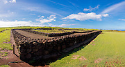 King Kamehameha Birthsite, North Kohala, The Big Island of Hawaii, stone, wall, heiau