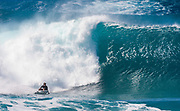 Nathan Florence surfing at the Banzai Pipeline, North Shore, Oahu, Hawaii