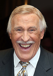 Sir Bruce Forsyth at the unveiling of two memorial plaque's at the Hippodrome Casino in London , Wednesday, 7th August 2013. One plaque mark's his record breaking number of appearances at the venue when it was known as The Talk of The Town and the other to his friend Sammy Davis Jnr who performed there in 1969 <br />