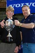 Peter Burling. Prize giving, Volvo Winter Championships, 26th September 2004