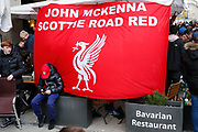 Liverpool fans enjoying the occasion in the Munich City Centre before the Champions League match between Bayern Munich and Liverpool at the Allianz Arena, Munich, Germany, on 13 March 2019.