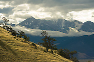 Absaroka Range from west of Livingston, Montana, Gallatin National Forest
