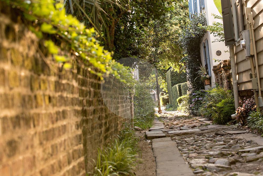 Historic Stolls Alley off Church Street in Charleston, SC.