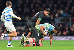 November 11, 2017 - London, United Kingdom - England's Sam Underhill and England's Alex Lozowski in action during Old Mutual Wealth Series between England against Argentina at Twickenham stadium , London on 11 Nov 2017  (Credit Image: © Kieran Galvin/NurPhoto via ZUMA Press)