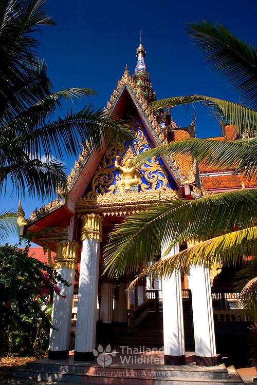 Wat WangWiwekaram in Sangkhlaburi in the north of Kanchanaburi province, Thailand.